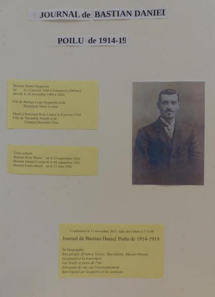 Expositions d'Allex, Publique, Guerre de 1914-1918, Panneaux(1)