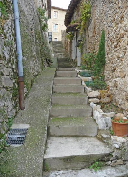 Vues d'Allex, Village, escalier du Belvédère (2)