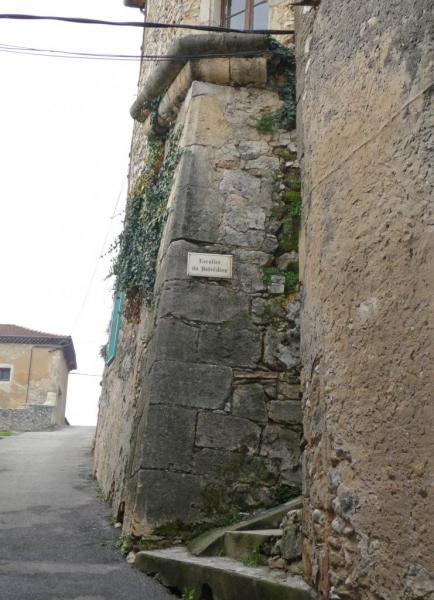 Vues d'Allex, Village, escalier du Belvédère