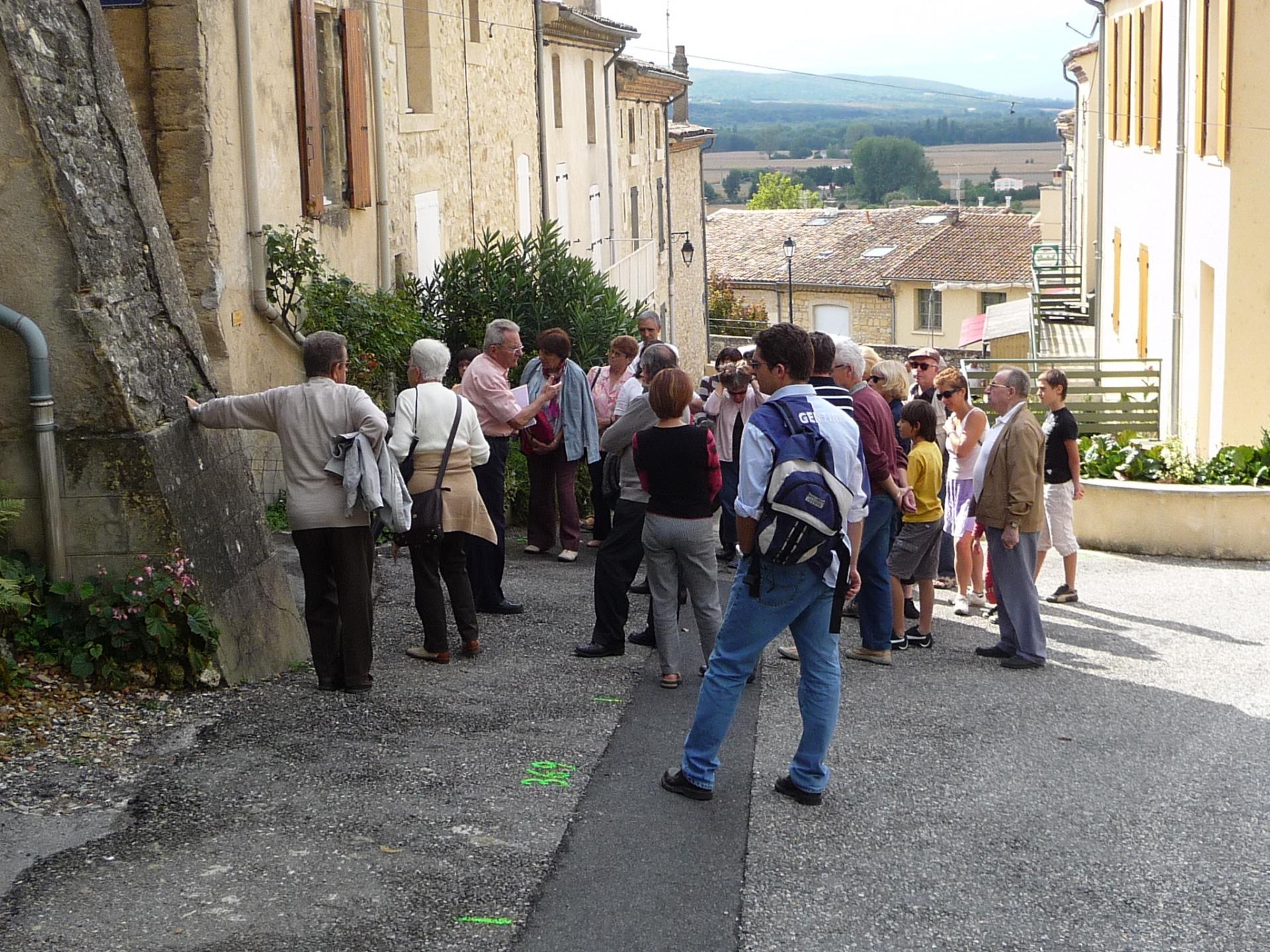 F tes et manifestations d allex publiques visite du village silvestre andr 2009 5
