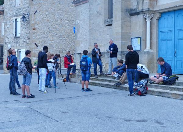 Fêtes et manifestations d allex publique visite du village mr silvestre andre 2